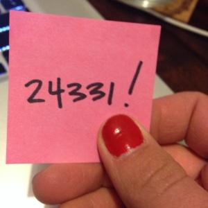 My book manuscript word count :)